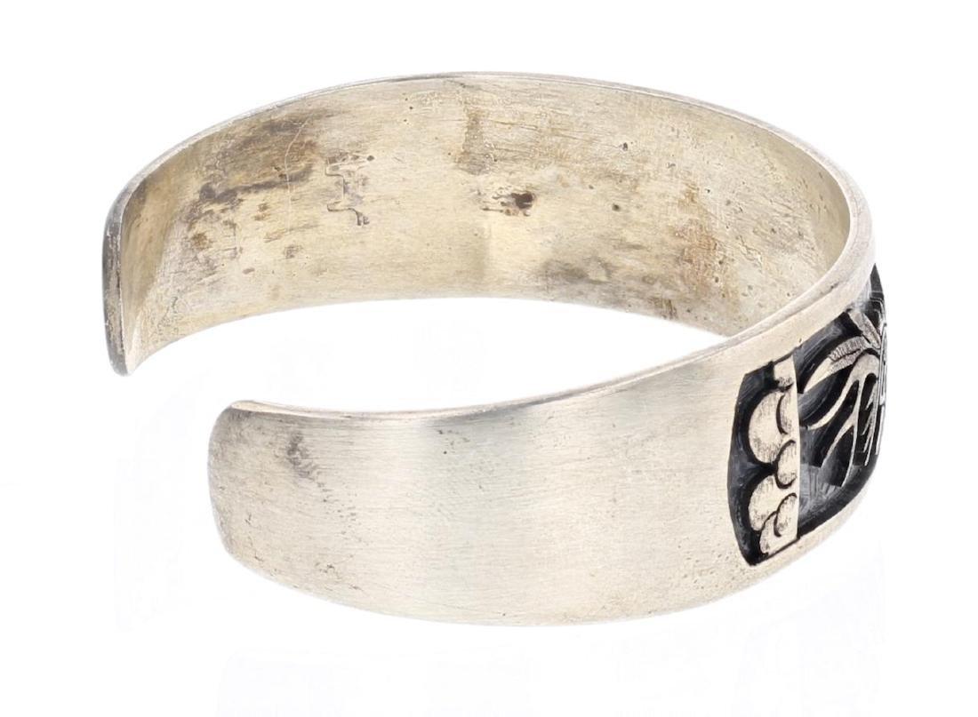 Hopi Overlay Vintage Dancer Cuff Bracelet - 2