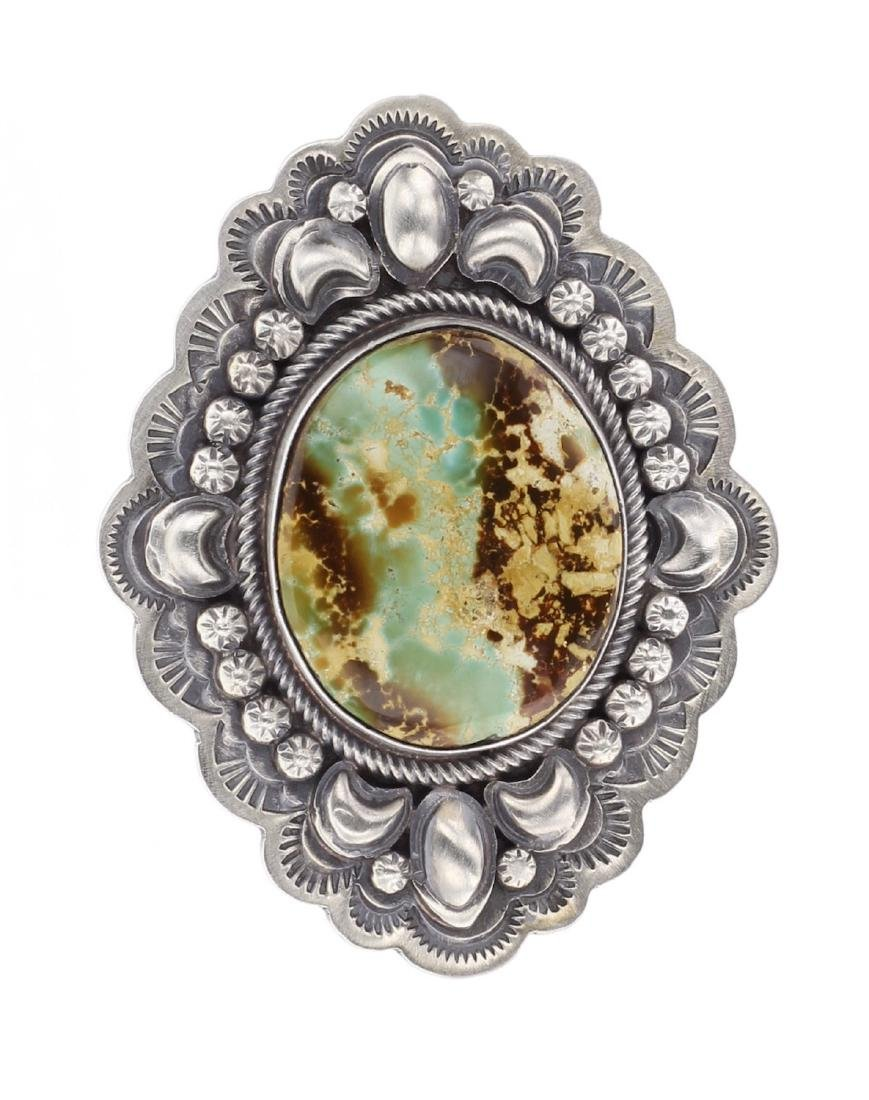 Royston Turquoise Stamp Out Ring