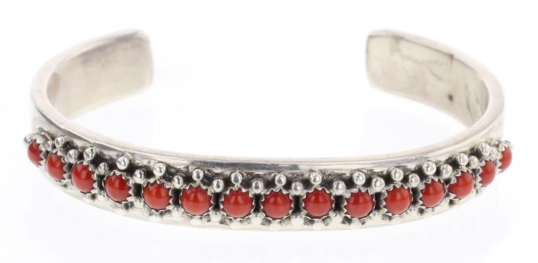 Paul Livingston Coral Row Bracelet