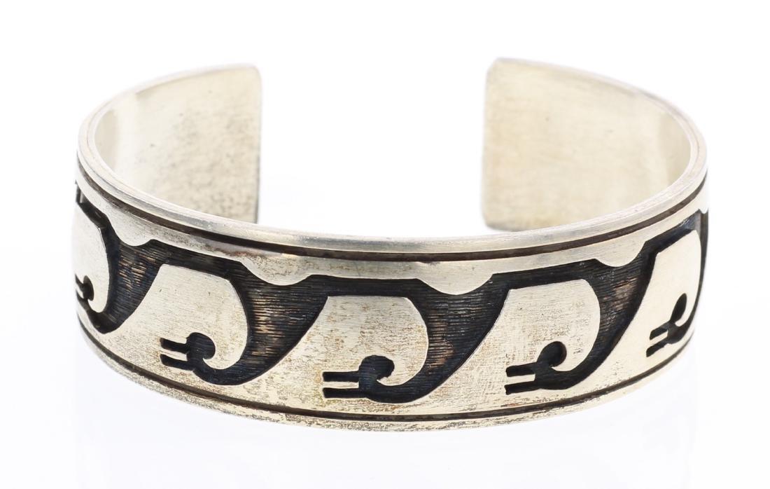 Hopi Overlay Vintage Cuff Bracelet