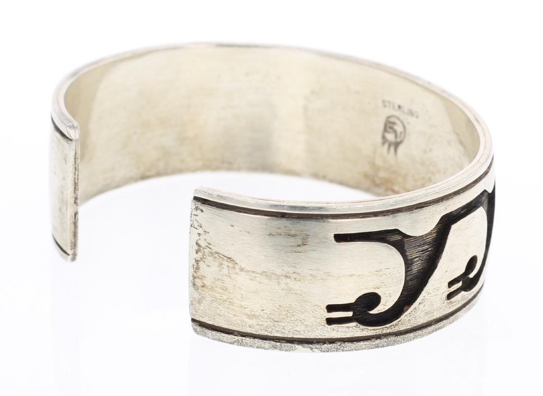 Hopi Overlay Vintage Cuff Bracelet - 2