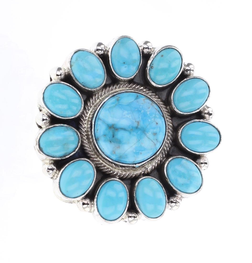 Kathleen Chavez Kingman Turquoise Ring