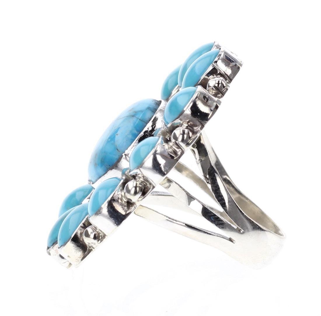 Kathleen Chavez Kingman Turquoise Ring - 2