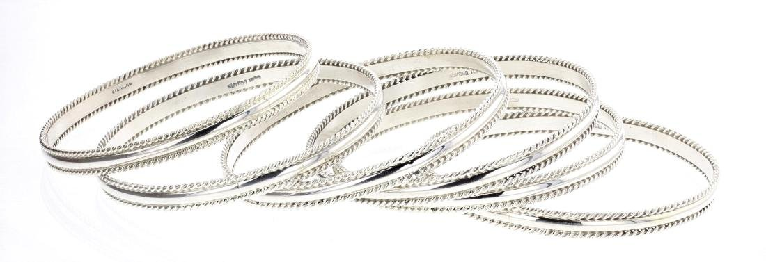 Tahe Twist Wire Bangle Bracelet Set of Six