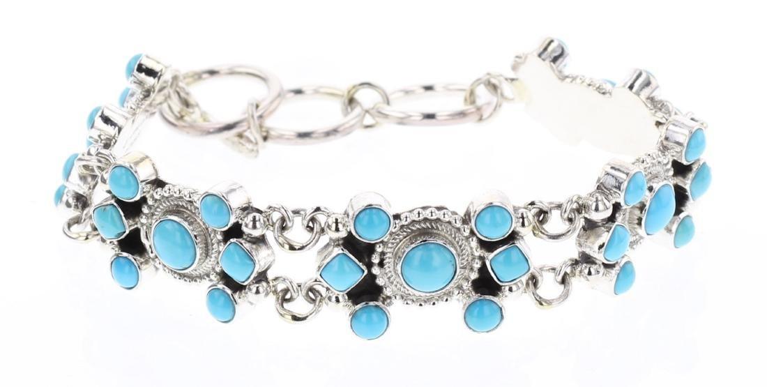 Kathleen Chavez Turquoise Link Bracelet