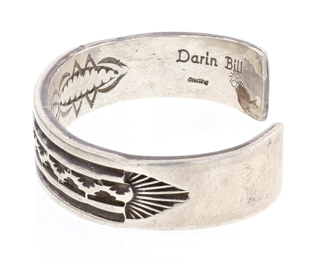 Darin Bill Overlay Vintage Cuff Bracelet - 2
