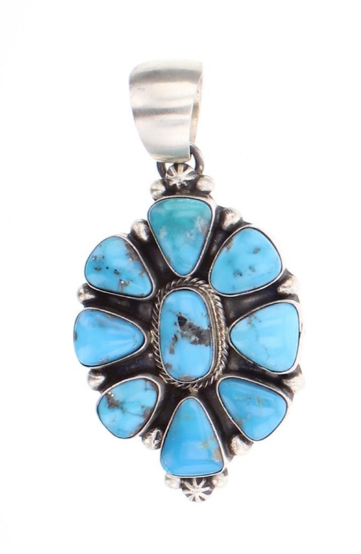 Kathleen Chavez Kingman Turquoise Pendant