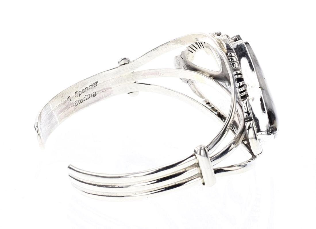 Larry Spencer White Buffalo Contemporary Cuff Bracelet - 2