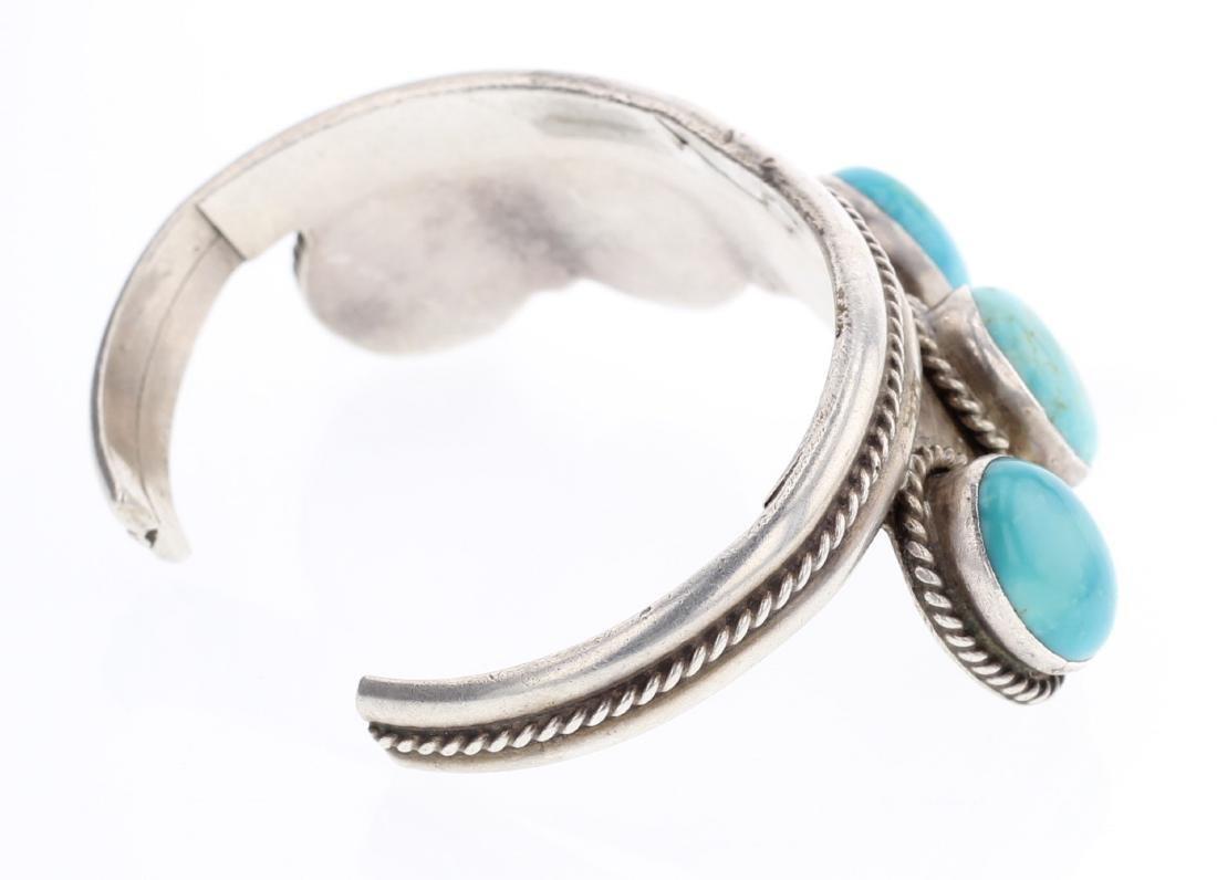 Turquoise Vintage Cuff Bracelet - 2