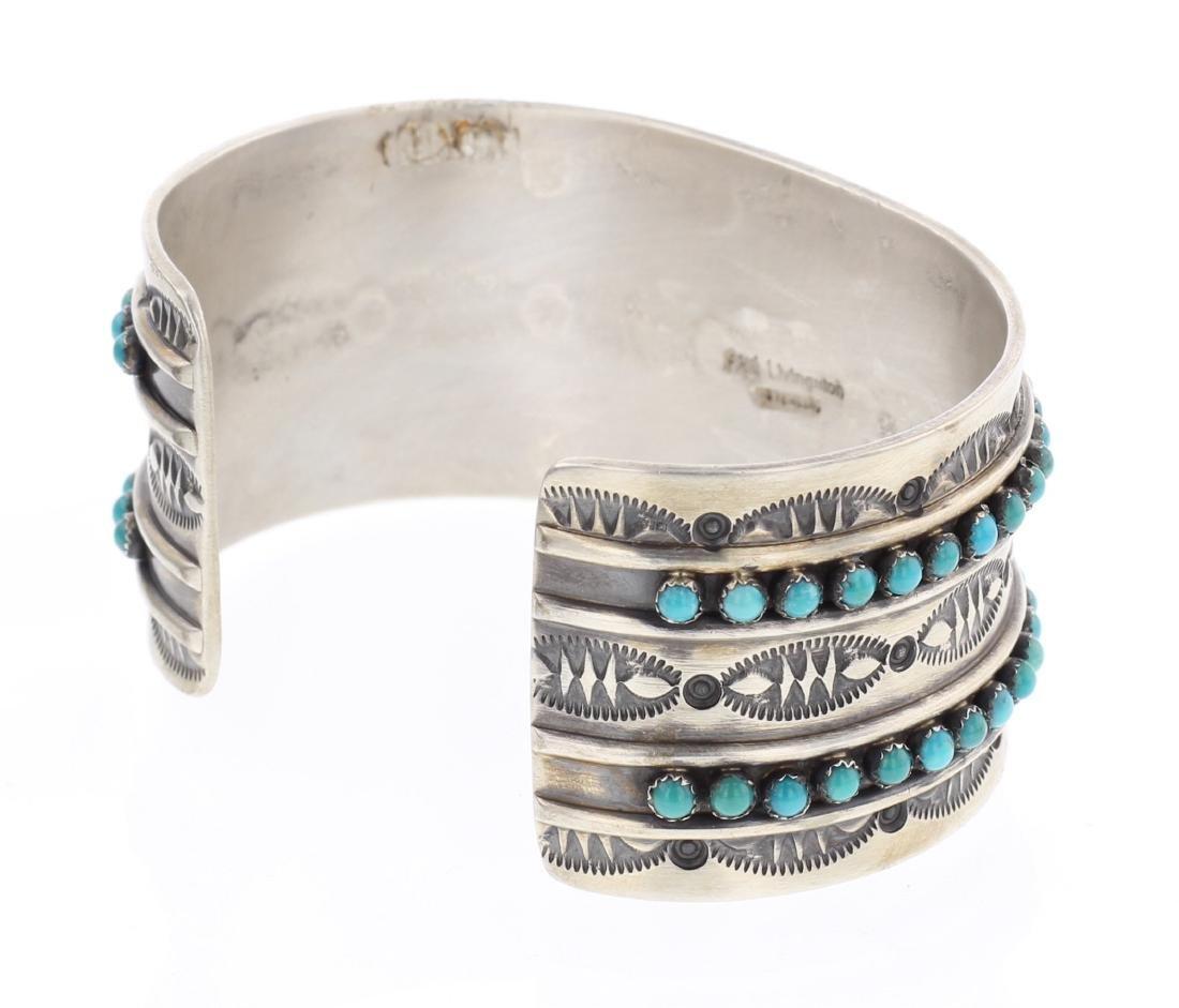 Paul Livingston Turquoise Row Cuff Bracelet - 2