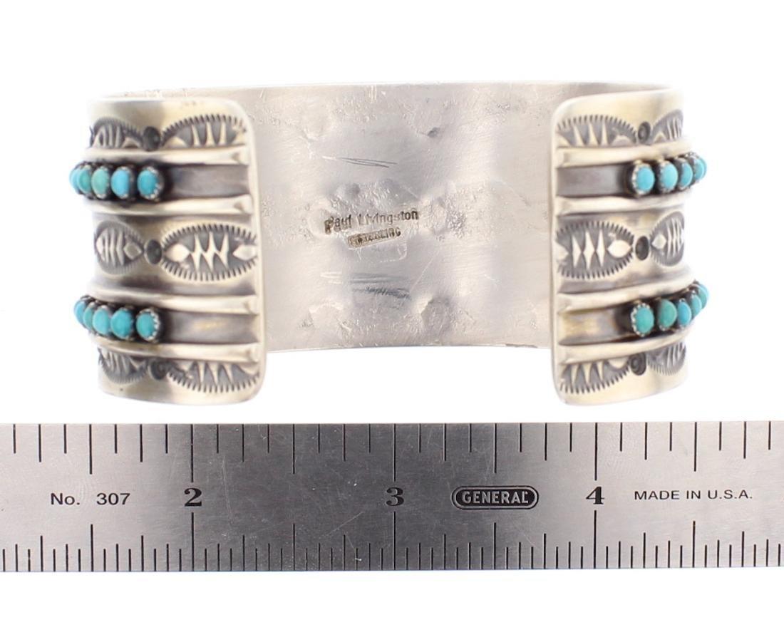 Paul Livingston Turquoise Row Cuff Bracelet - 3