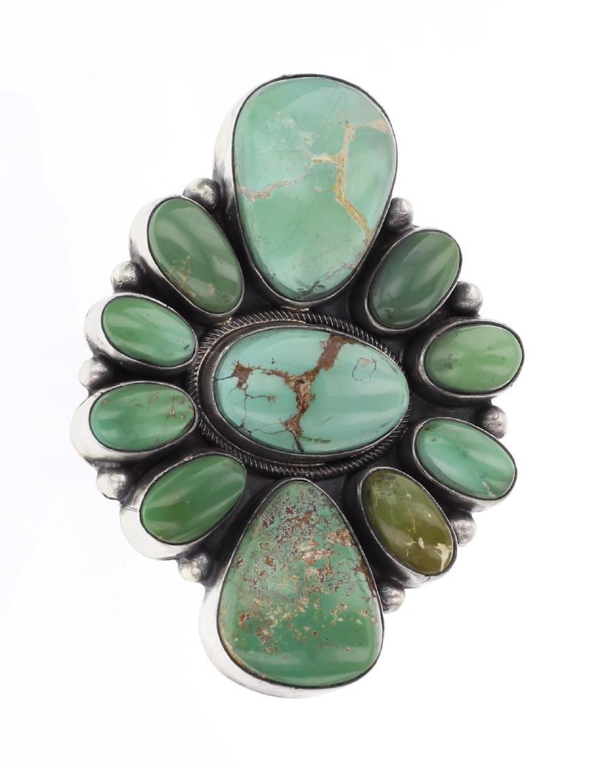 Raymond Beard Royston Turquoise Cluster Ring