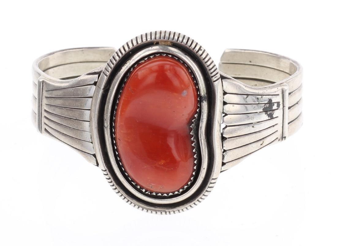 Free Form Vintage Coral Cuff Bracelet