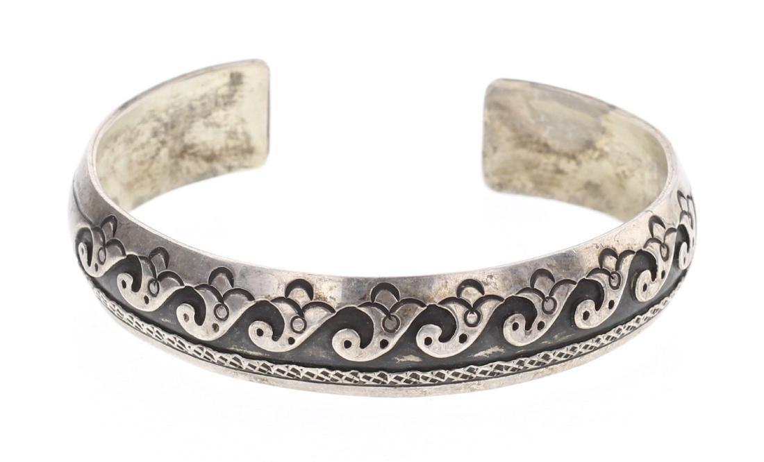 Overlay Vintage Old Pawn Hopi Bracelet