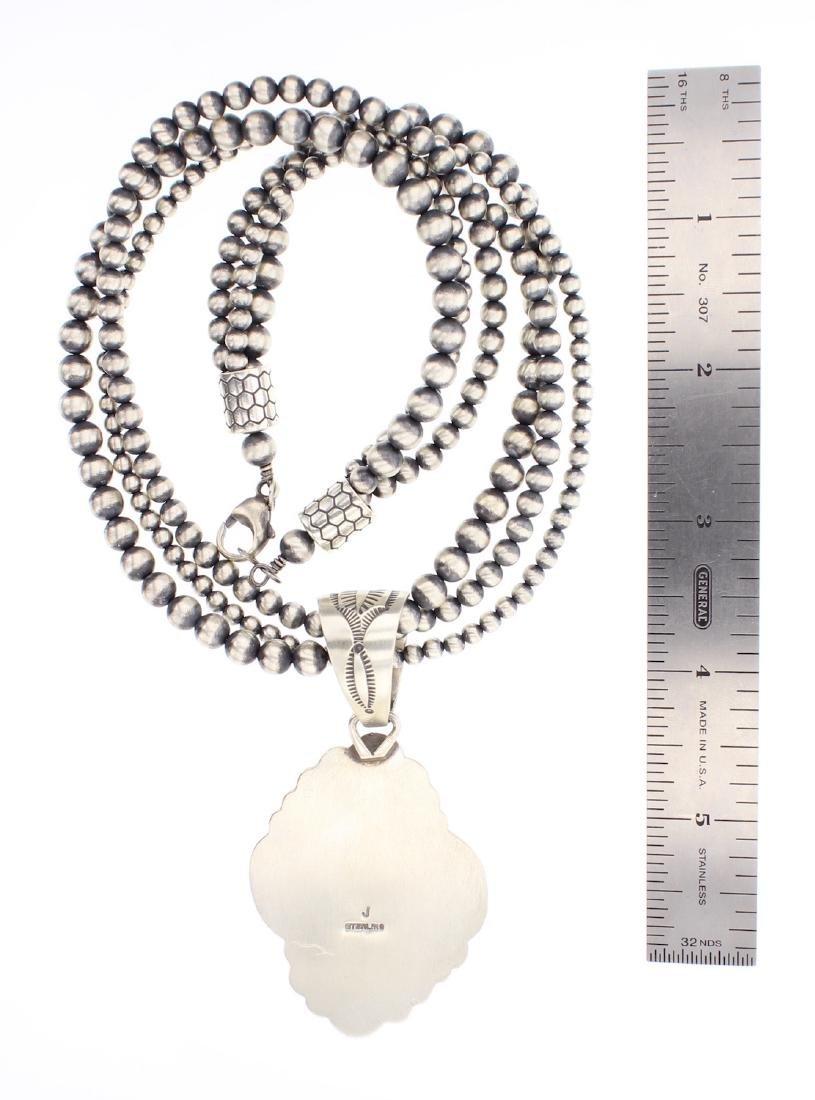 Contemporary Turquoise Pendant & Multi Strand Beads - 2