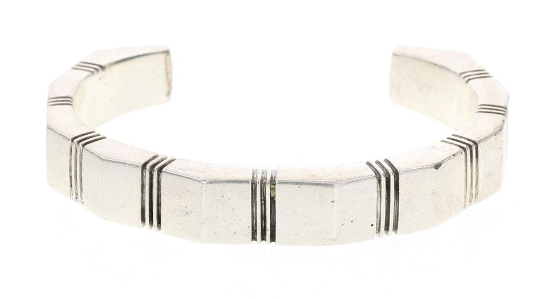 Nusie Belon Vintage Rectangle Cuff Bracelet