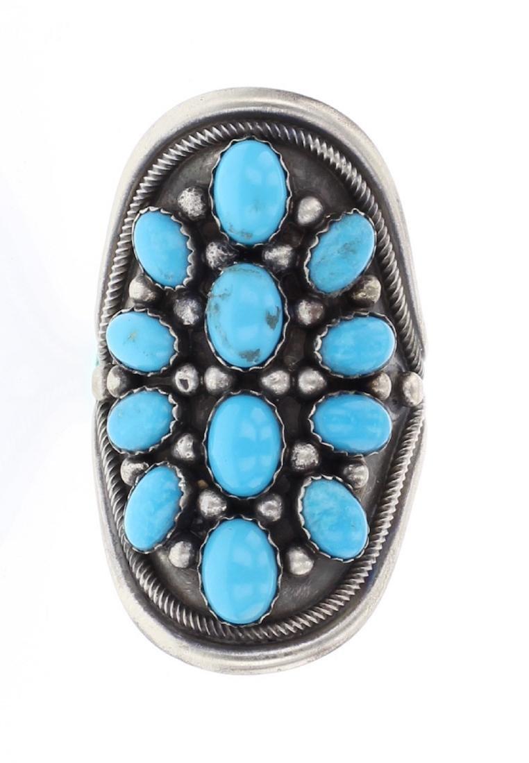 Paul Livingston Sleeping Beauty Turquoise Ring