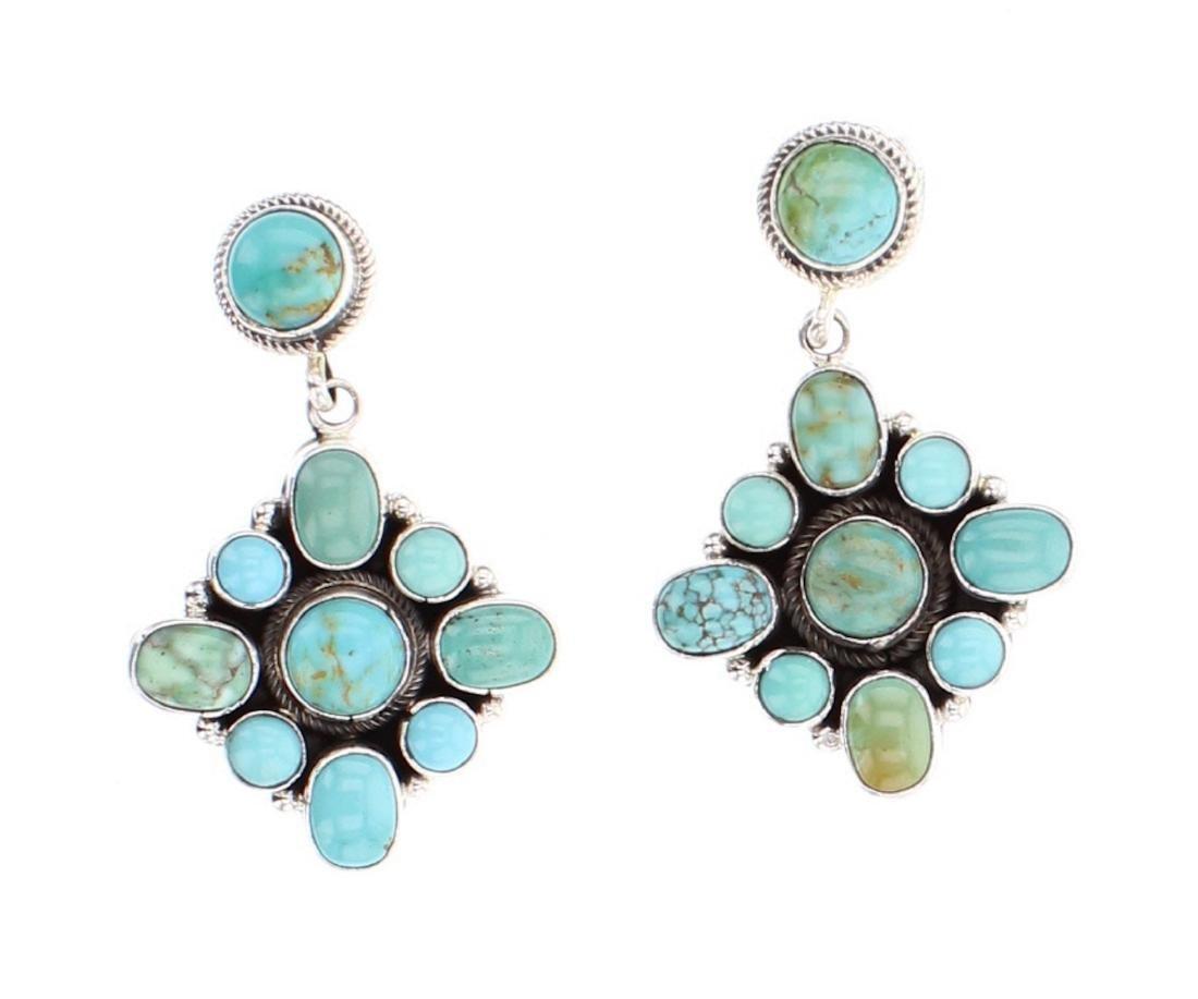 Eleanor Largo Contemporary Kingman Turquoise Earrings