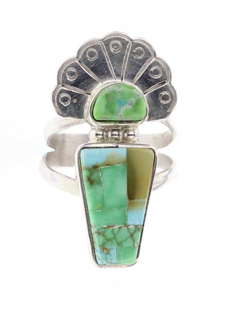 Carico Lake Turquoise Inlay Ring