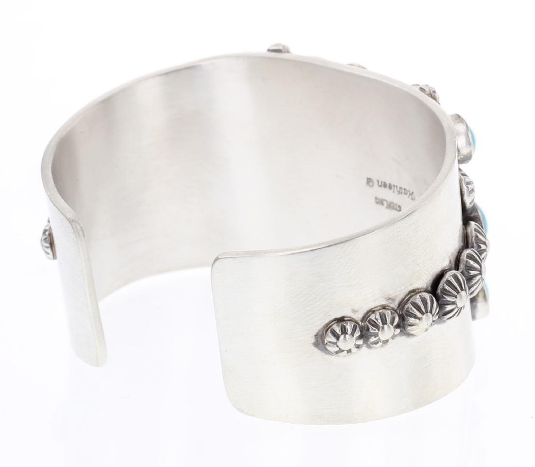 Kathleen Chavez Kingman Turquoise Cuff Bracelet - 2