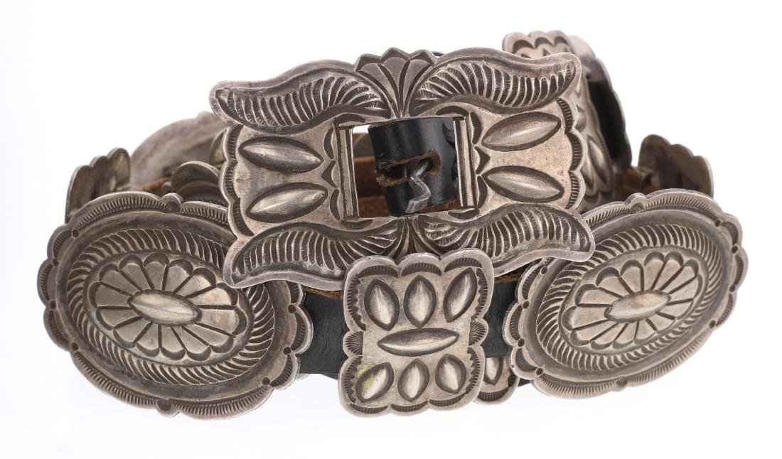 LE Old Pawn Heavy Stamp Bump Out Concho Belt