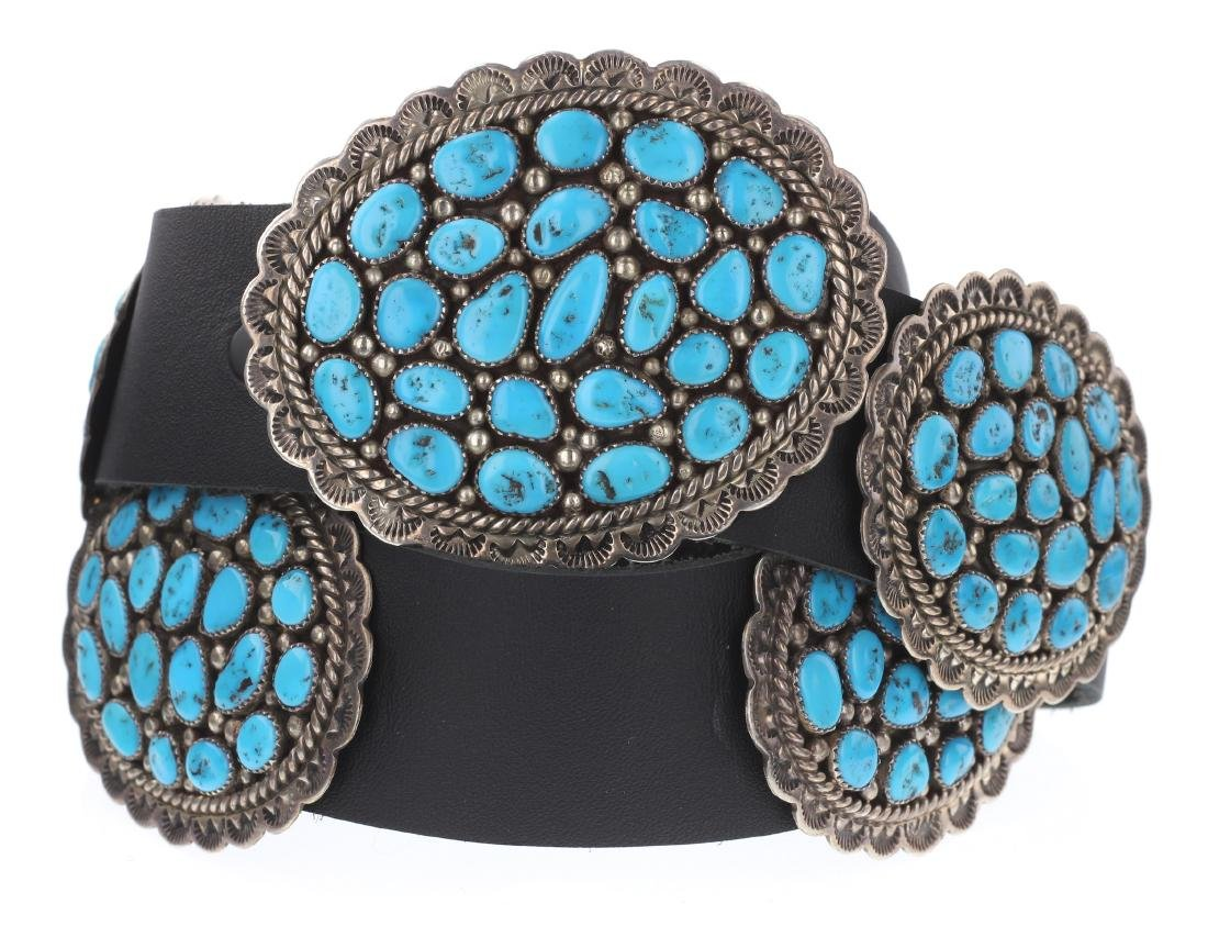 Sleeping Beauty Nugget Turquoise Old Pawn Cluster