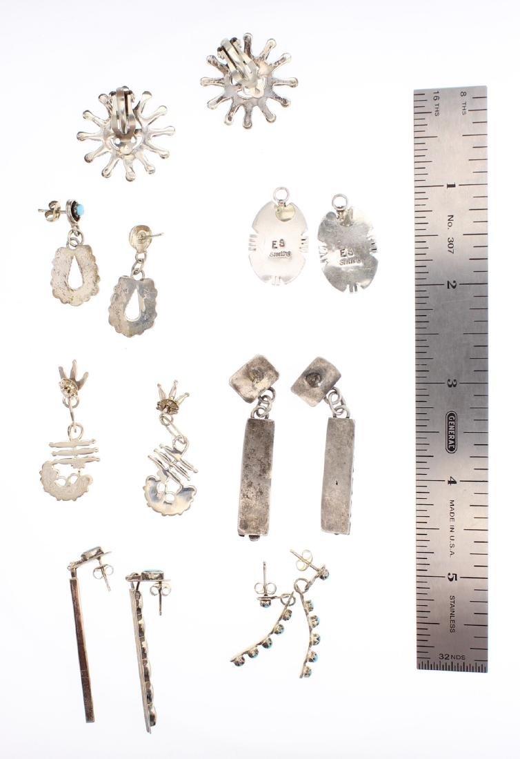 Turquoise Vintage Six Pairs of Earrings - 2