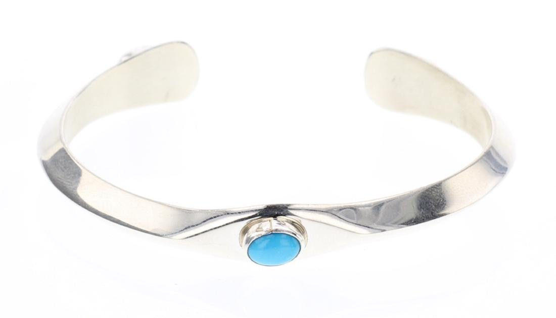 Contemporary Sleeping Beauty Turquoise Cuff Bracelet