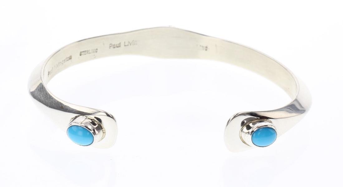 Contemporary Sleeping Beauty Turquoise Cuff Bracelet - 2