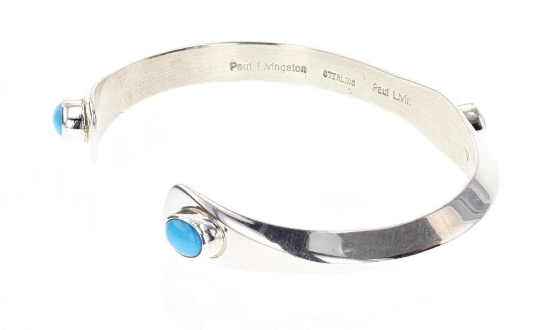 Contemporary Sleeping Beauty Turquoise Cuff Bracelet - 3