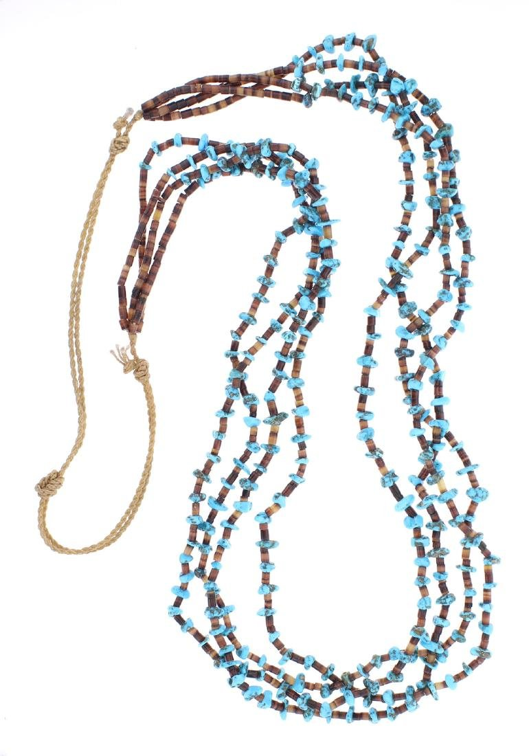 Multi Strand Original Turquoise Heishi Necklace