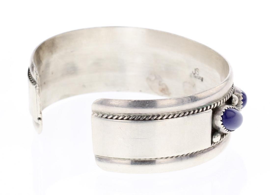 Vintage Lapis Row Cuff Bracelet - 2