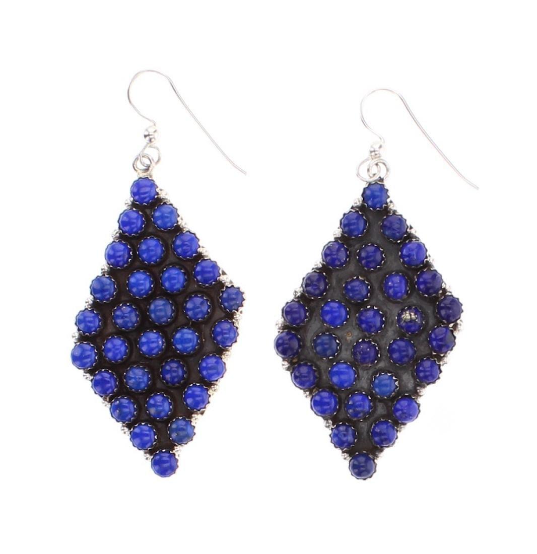 P. Johnson Contemporary Lapis Cluster Earrings