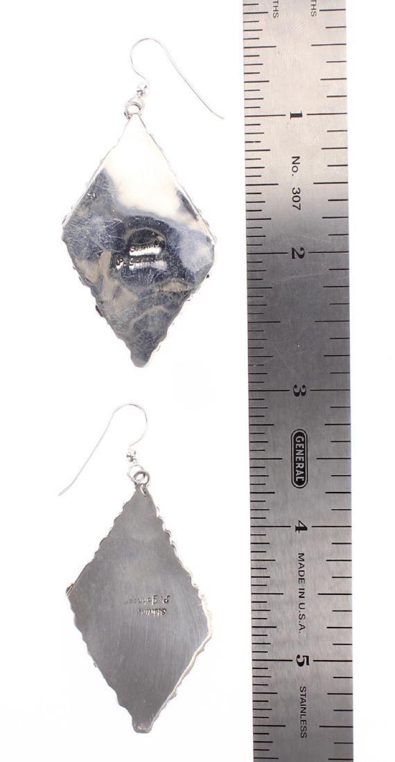 P. Johnson Contemporary Lapis Cluster Earrings - 2