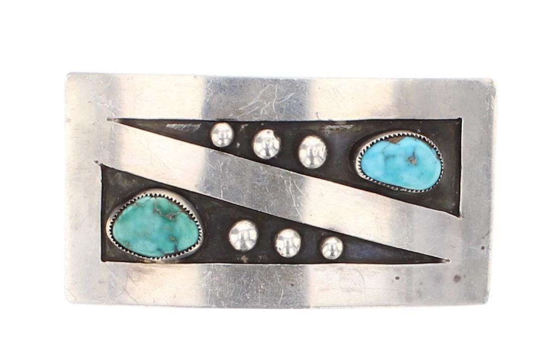 Vintage Turquoise Belt Buckle