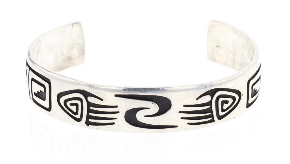 Overlay Hopi Style Navajo Cuff Bracelet