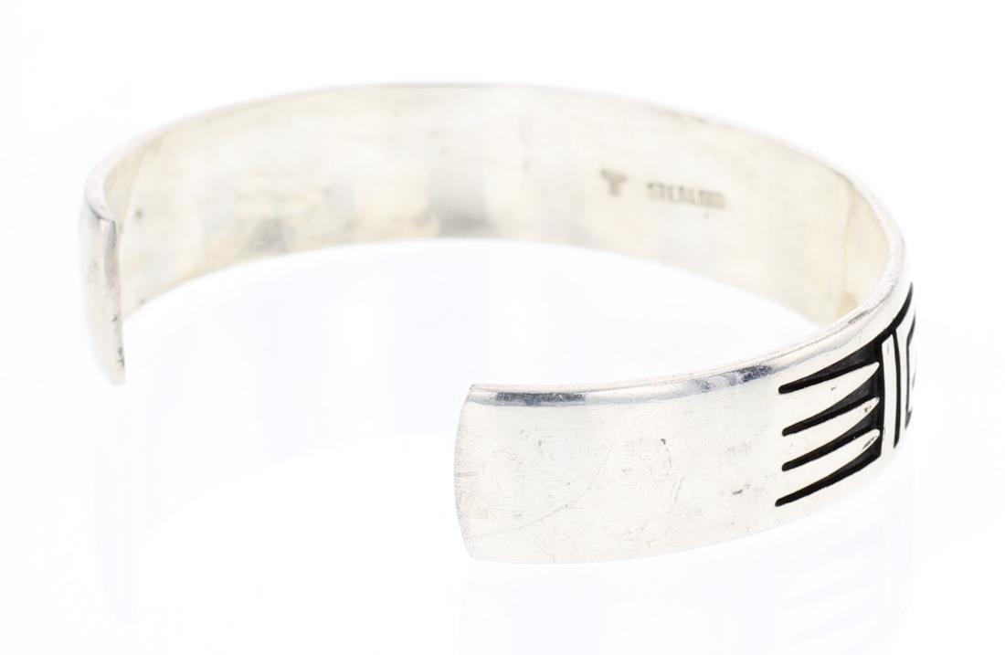 Overlay Hopi Style Navajo Cuff Bracelet - 2