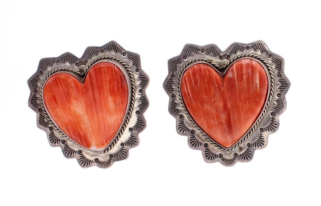 Harris Joe Spiny Oyster Heart Earrings