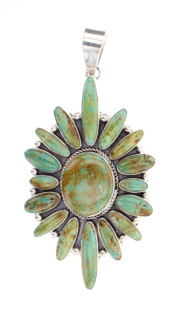Contemporary Turquoise Pendant
