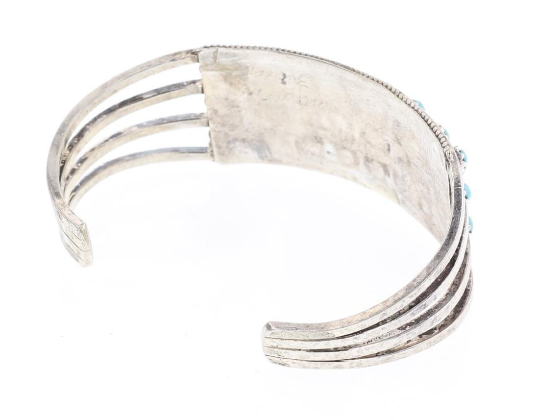 Vintage Turquoise Row Cuff Bracelet - 2