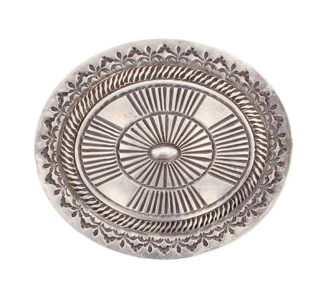 Vintage Heavy Stamp Belt Buckle