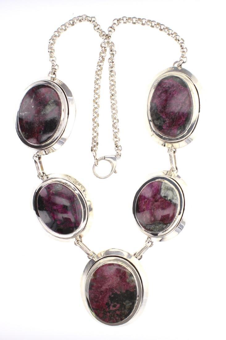 Paul Livingston Rhodochrosite Contemporary Necklace