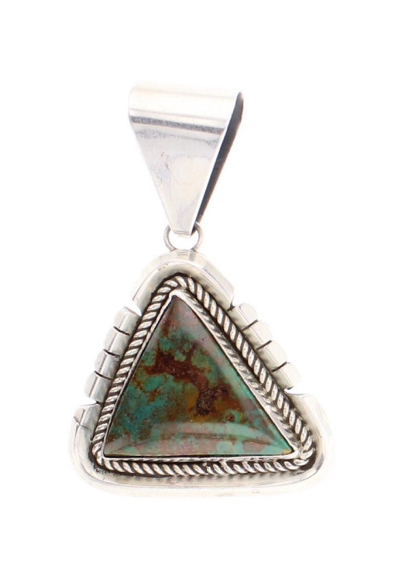 Turquoise Triangle Pendant