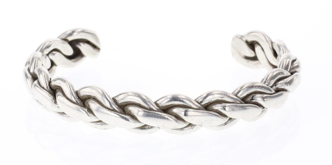 Vintage Chain Link Twist Cuff Bracelet