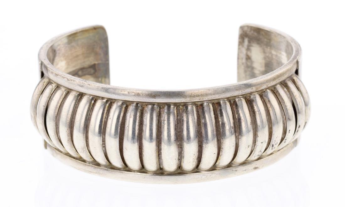Emma Lincoln Half Round Row Vintage Cuff Bracelet