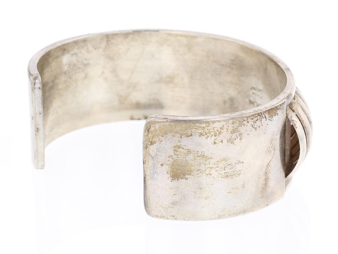Emma Lincoln Half Round Row Vintage Cuff Bracelet - 2