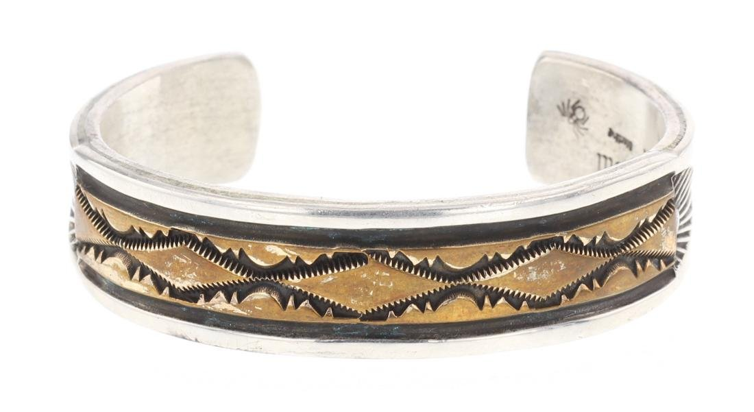 Darin Bill Vintage Overlay Cuff Bracelet