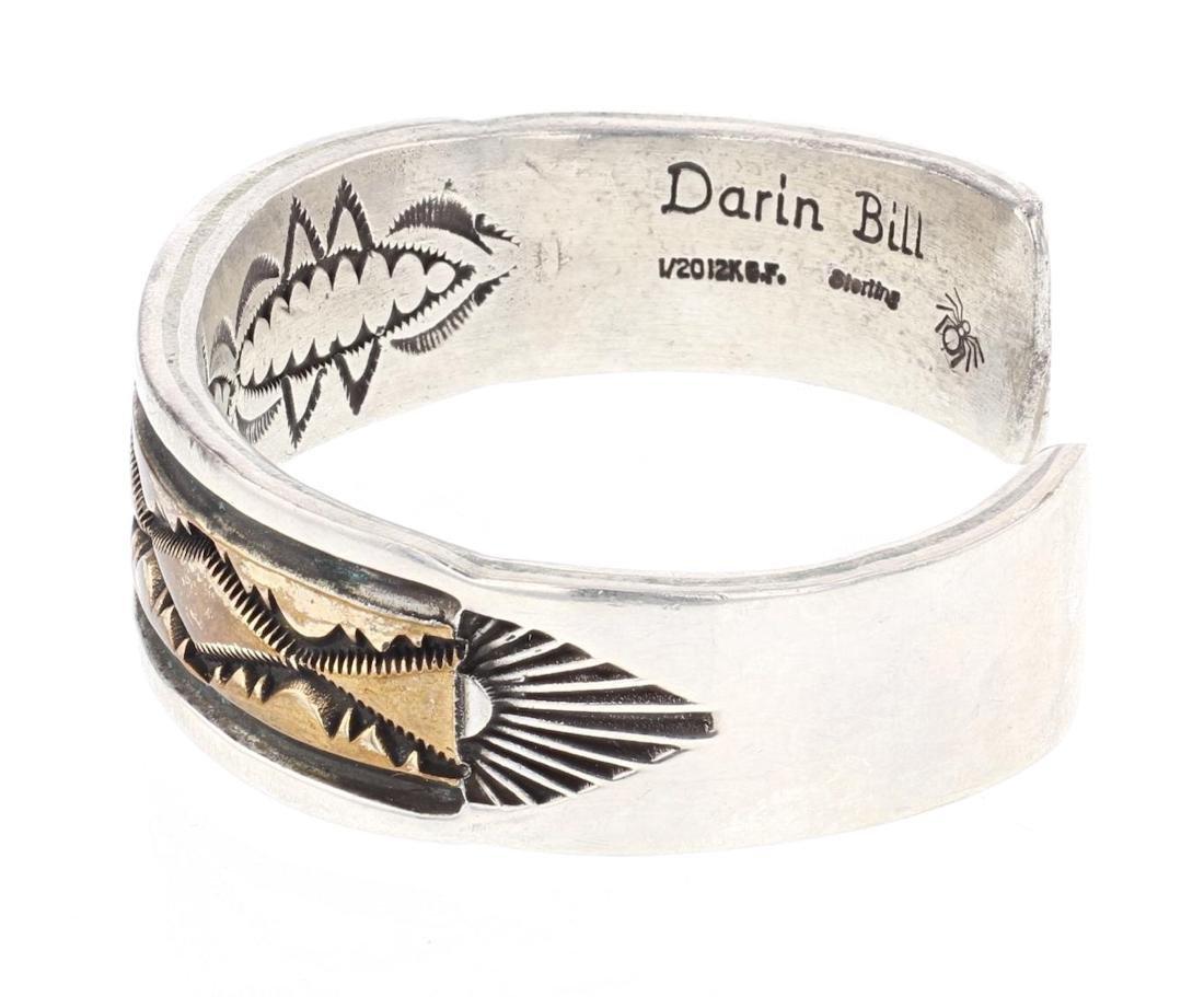 Darin Bill Vintage Overlay Cuff Bracelet - 2
