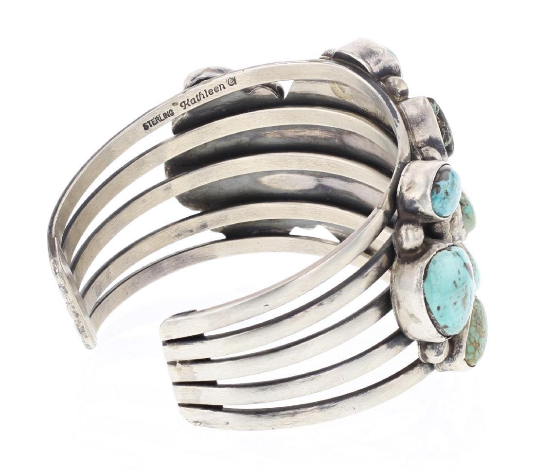 Kathleen Chavez Turquoise Cluster Cuff Bracelet - 2