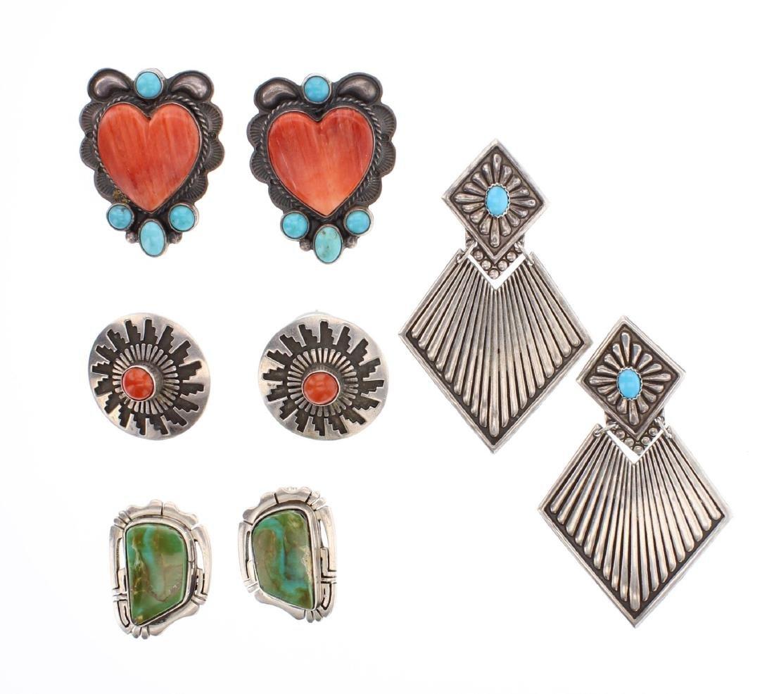 Genuine Multi Stone Earrings